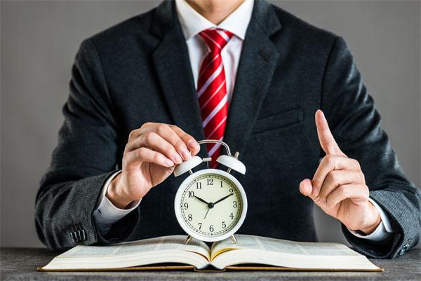 時間を区切るイメージ